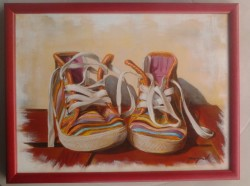 "5 steps in creating painting ""Little Joseph"""