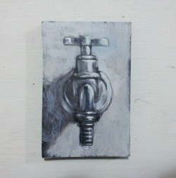 """Thirst"", acrylic on MDF board (8cm x 12,5cm)"