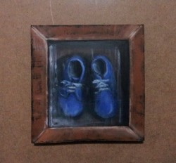"Day 93: ""Value"", acrylic on MDF board, 12cm x 12,5cm (sold)"