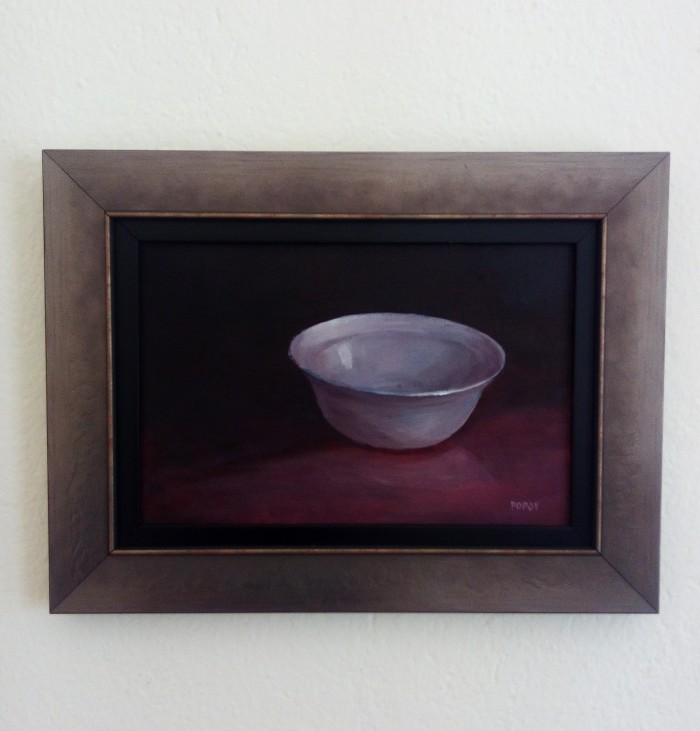 """Empty plate"", oil on canvas, 30cm x 40cm (Price: 290€, shipping included)"