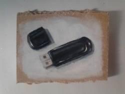"Day 12: ""Memories"", acrylic on hardboard, 7,5cm x 10cm (sold)"
