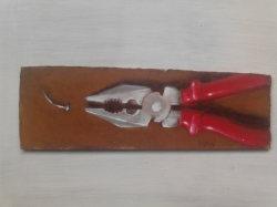 "Day 20: ""Shark"", acrylic on hardboard, 21cm x 6,5cm (sold)"