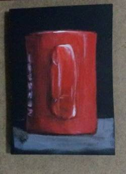 "Day 72: ""Ritual"", acrylic on MDF board, 9cm x 11cm (sold)"