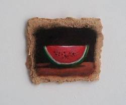 "Day 61: ""Watermelon"", 8cm x 6,5cm (sold)"