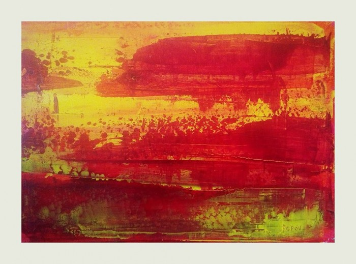 """""""Take a look inside"""", acrylic on canvas, 25cm x 35cm (part 1 of a diptych, available)"""