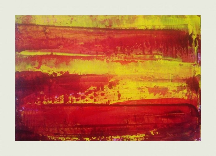 """""""Eternity is starving for a handshake"""", acrylic on canvas, 25cm x 35cm (part 2 of a diptych, available)"""