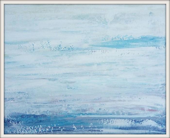 """""""Snow falls..."""", acrylic on canvas, 40cm x 50cm (available)"""